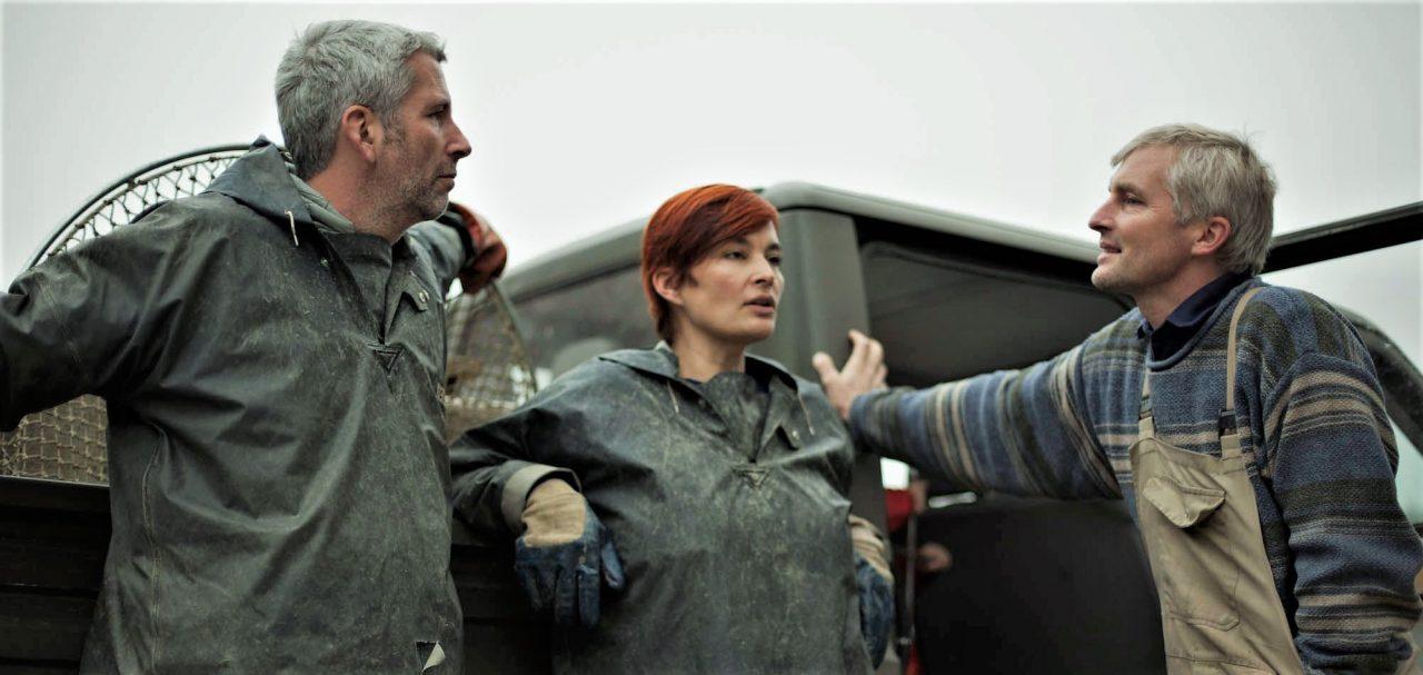 Dirk Stermann (Lehrling und Künstler) Christiane Kada (Köchin und Kunsthistorikerin), Henrich Holler (Fischereimeister)