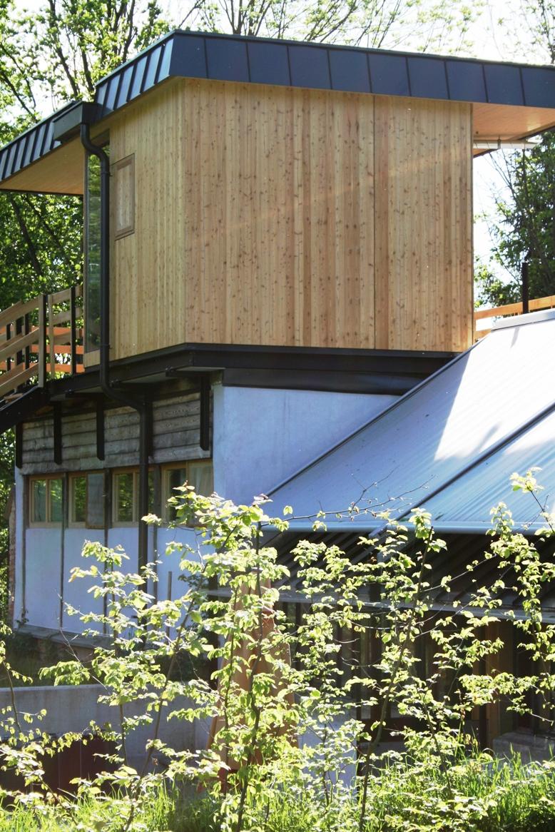 Mini-Wellnesshaus am Dach