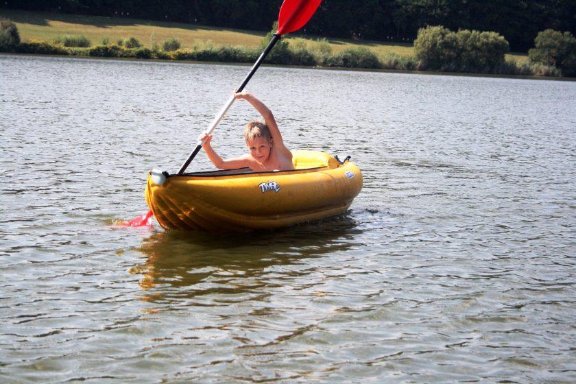 Schlauchboot Badespaß