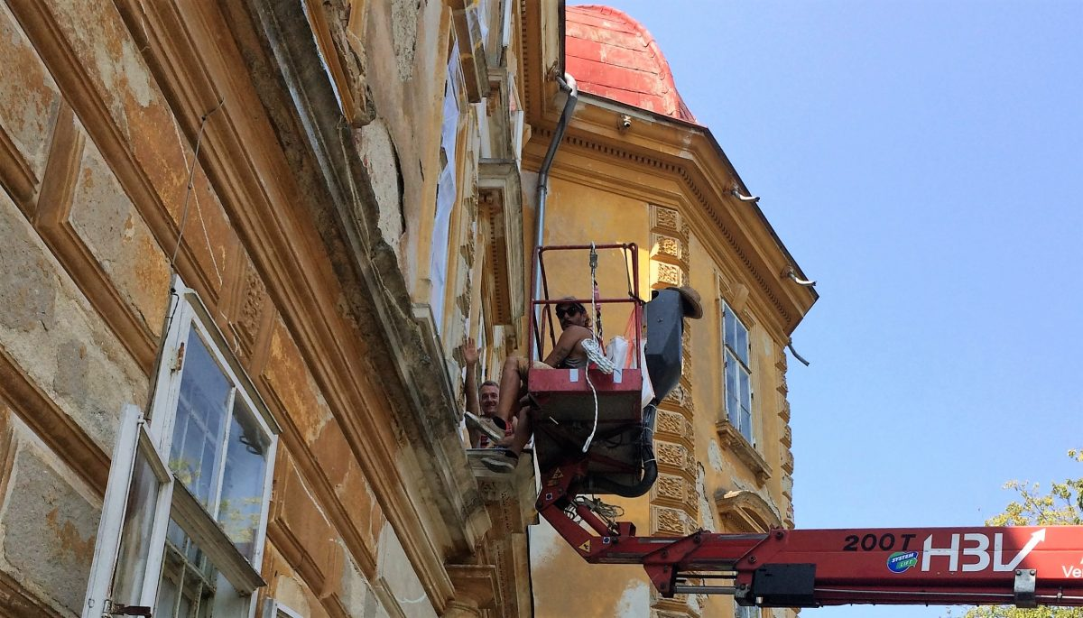 Tag des Denkmals Schloss Hornegg - Kalkputz zerstört