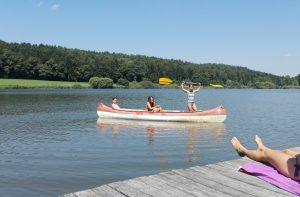 Badesee Kanu Ferien im Baudenkmal Südsteiermark